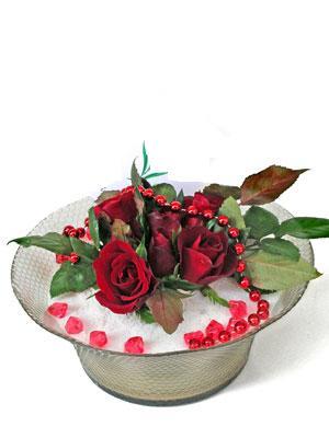 Muş çiçek siparişi vermek  EN ÇOK Sevenlere 7 adet kirmizi gül mika yada cam tanzim
