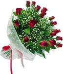 Muş internetten çiçek satışı  11 adet kirmizi gül buketi sade ve hos sevenler