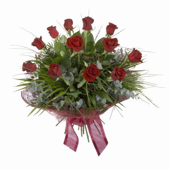 Etkileyici buket 11 adet kirmizi gül buketi  Muş internetten çiçek satışı