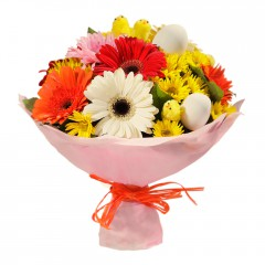 Karışık mevsim buketi Mevsimsel çiçek  Muş internetten çiçek siparişi