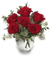 Vazo içerisinde 5 adet kırmızı gül  Muş çiçekçi mağazası