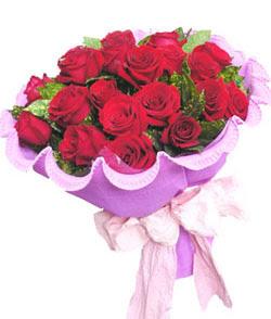 12 adet kırmızı gülden görsel buket  Muş çiçekçi mağazası