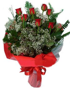 7 kırmızı gül buketi  Muş çiçek servisi , çiçekçi adresleri