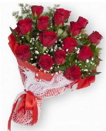 11 kırmızı gülden buket  Muş güvenli kaliteli hızlı çiçek