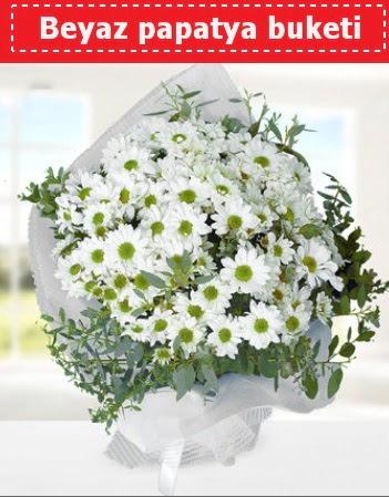 Beyaz Papatya Buketi  Muş 14 şubat sevgililer günü çiçek