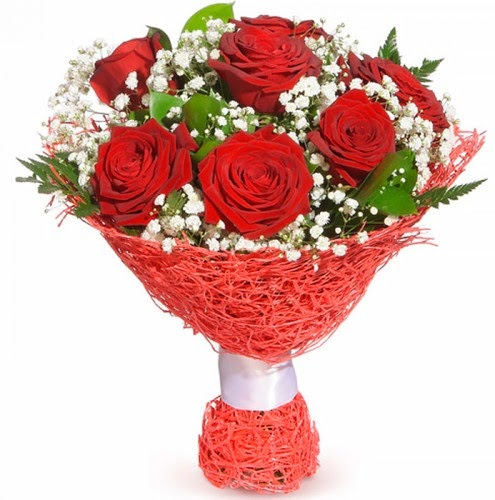 7 adet kırmızı gül buketi  Muş çiçekçiler