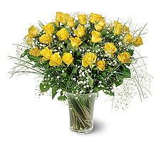 Muş çiçek siparişi sitesi  15 adet sarigül mika yada cam vazoda