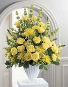 Muş çiçek siparişi sitesi  sari güllerden sebboy tanzim çiçek siparisi