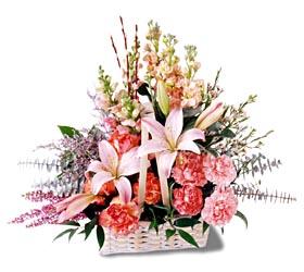 Muş çiçek siparişi sitesi  mevsim çiçekleri sepeti özel tanzim