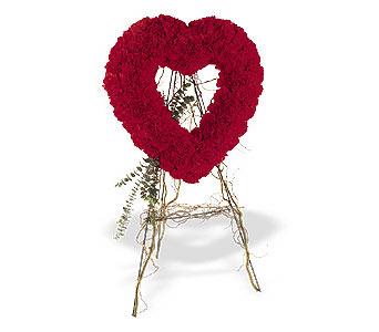 Muş internetten çiçek satışı  karanfillerden kalp pano