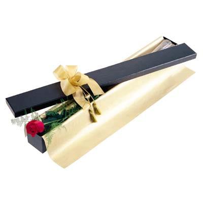 Muş uluslararası çiçek gönderme  tek kutu gül özel kutu