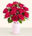 Muş hediye çiçek yolla  10 kirmizi gül cam yada mika vazo tanzim