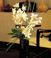 Muş çiçekçiler  cam yada mika vazo içerisinde dal orkide