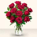 Muş çiçek yolla  10 adet gül cam yada mika vazo da