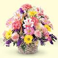 Muş uluslararası çiçek gönderme  sepet içerisinde gül ve mevsim