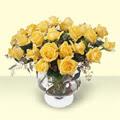 Muş çiçekçi telefonları  11 adet sari gül cam yada mika vazo içinde