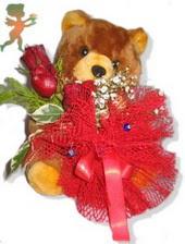 oyuncak ayi ve gül tanzim  Muş çiçekçiler