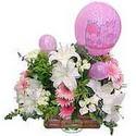 balon ve çiçeklerle tanzim  Muş internetten çiçek satışı