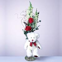 2 adet gül ve panda özel  Muş çiçekçi mağazası