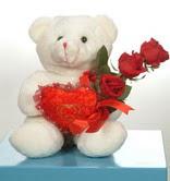 3 adetgül ve oyuncak   Muş online çiçekçi , çiçek siparişi