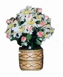 yapay karisik çiçek sepeti   Muş çiçek servisi , çiçekçi adresleri