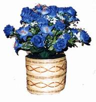 yapay mavi çiçek sepeti  Muş cicekciler , cicek siparisi