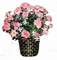 yapay karisik çiçek sepeti  Muş çiçek online çiçek siparişi