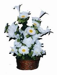 yapay karisik çiçek sepeti  Muş çiçek siparişi vermek