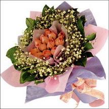 11  adet  gül ve   elyaflar   Muş çiçekçi mağazası