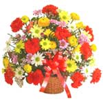 karisik renkli çiçek sepet   Muş çiçek gönderme sitemiz güvenlidir