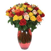 51 adet gül ve kaliteli vazo   Muş çiçek gönderme sitemiz güvenlidir