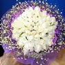 71 adet beyaz gül buketi   Muş çiçek , çiçekçi , çiçekçilik