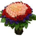 71 adet renkli gül buketi   Muş ucuz çiçek gönder