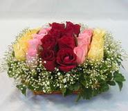 15 adet reprenkli gül sepeti   Muş çiçek yolla