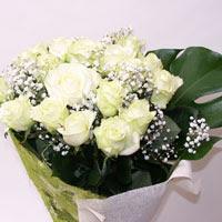 Muş hediye çiçek yolla  11 adet sade beyaz gül buketi