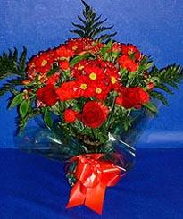 Muş hediye çiçek yolla  3 adet kirmizi gül ve kir çiçekleri buketi