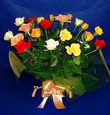 Muş hediye çiçek yolla  13 adet karisik renkli güller