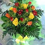 13 adet karisik gül buketi demeti   Muş uluslararası çiçek gönderme