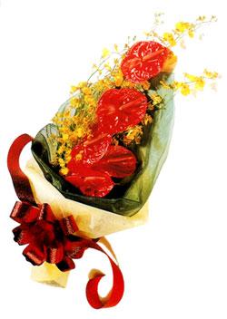 özel 5 adet antorium buketi   Muş çiçek gönderme sitemiz güvenlidir
