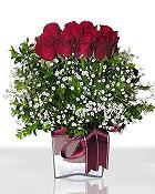 Muş çiçek , çiçekçi , çiçekçilik  11 adet gül mika yada cam - anneler günü seçimi -