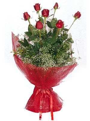 Muş çiçek servisi , çiçekçi adresleri  7 adet gülden buket görsel sik sadelik