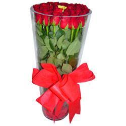 Muş çiçek online çiçek siparişi  12 adet kirmizi gül cam yada mika vazo tanzim
