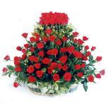 Muş kaliteli taze ve ucuz çiçekler  41 adet kirmizi gülden sepet tanzimi