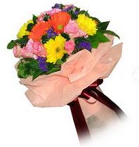 Muş çiçekçi mağazası  Karisik mevsim çiçeklerinden demet