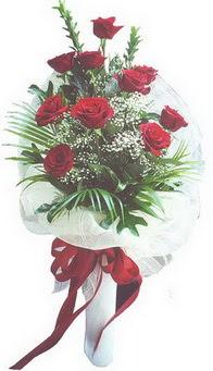 Muş hediye çiçek yolla  10 adet kirmizi gülden buket tanzimi özel anlara