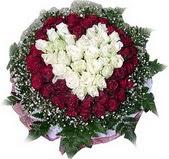 Muş çiçek mağazası , çiçekçi adresleri  27 adet kirmizi ve beyaz gül sepet içinde