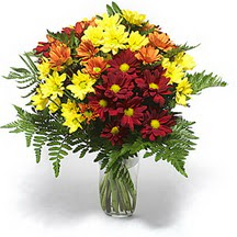 Muş çiçek siparişi sitesi  Karisik çiçeklerden mevsim vazosu