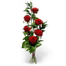 Muş uluslararası çiçek gönderme  mika yada cam vazoda 6 adet essiz gül