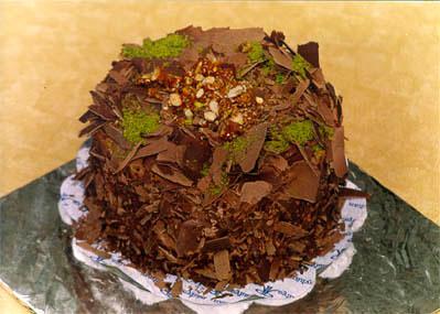 Çikolatali 4 ila 6 kisilik yas pasta  Muş çiçek gönderme sitemiz güvenlidir