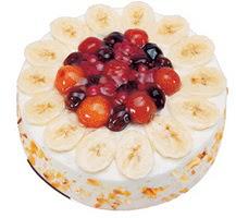 Meyvali 4 ile 6 kisilik yas pasta leziz  Muş ucuz çiçek gönder